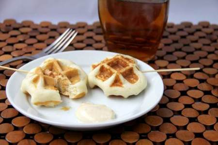 Crunchy Chicken Stuffed Waffle Pops Recipe | SnappyGourmet.com