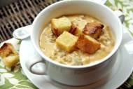 Cheesy Pumpkin & Sausage Soup