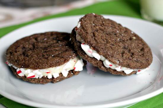 Peppermint Chocolate Sandwich Cookies Recipe | SnappyGourmet.com