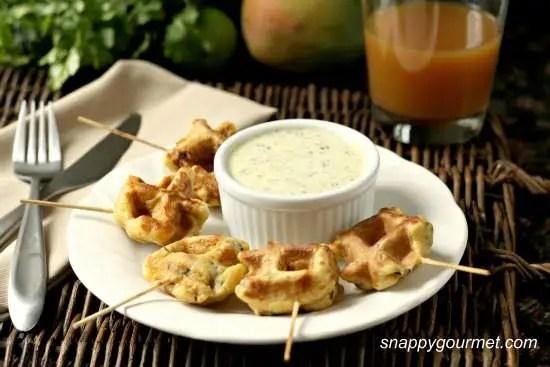Caribbean Shrimp Stuffed Waffles 11a wm