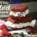 Red, White, & Blue Velvet Ice Cream Sandwiches