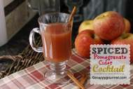 Spiced Pomegranate Cider Cocktail