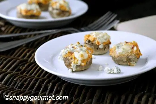 Buffalo Chicken Stuffed Mushrooms