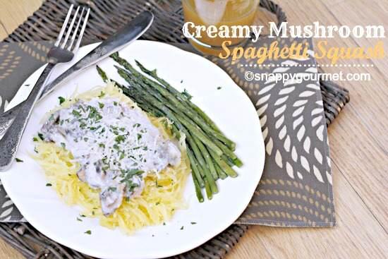 Creamy Mushroom Spaghetti Squash