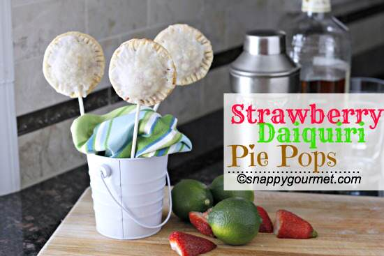 Strawberry Daiquiri Pie Pops | snappygourmet.com