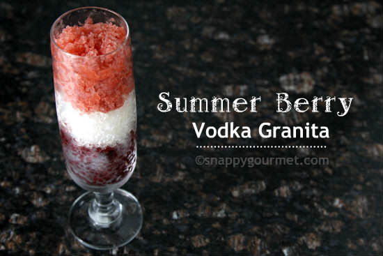 Summer Berry Vodka Granita