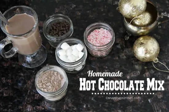 Homemade Hot Chocolate Mix Recipe & toppings | snappygourmet.com