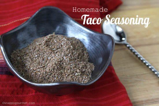 Homemade Taco Seasoning Mix (4 flavors) | SnappyGourmet.com
