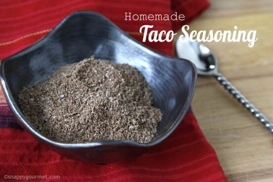 Homemade Taco Seasoning Mix (4 flavors) | SnappyGourmet.com