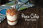 Peach Crisp Parfait - an easy and healthy breakfast or snack recipe | SnappyGourmet.com