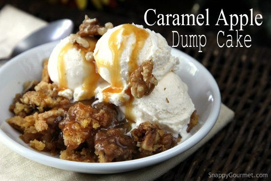 Caramel Apple Dump Cake Recipe + Giveaway (Pick Your Prize!)