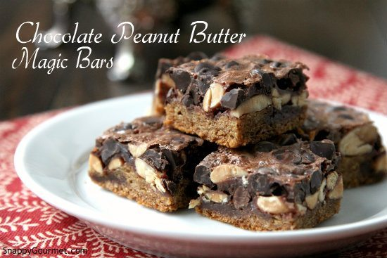 Chocolate Peanut Butter Magic Bars Recipe