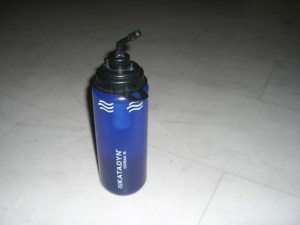 Backpacking water purifier in a water bottle!