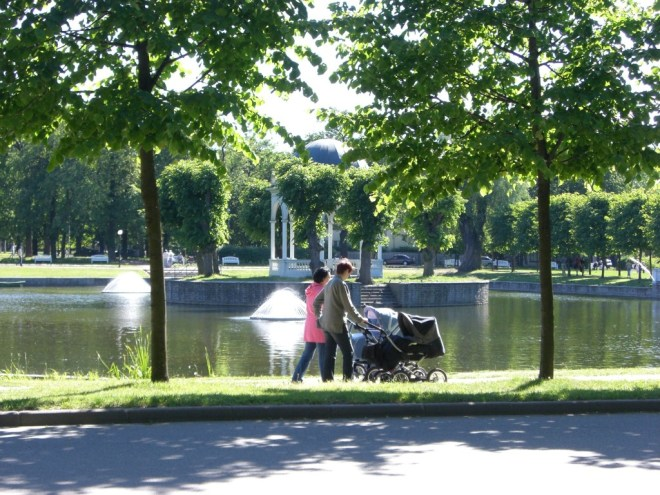 Park near the Kadriorg Palace, Tallinn, Estonia