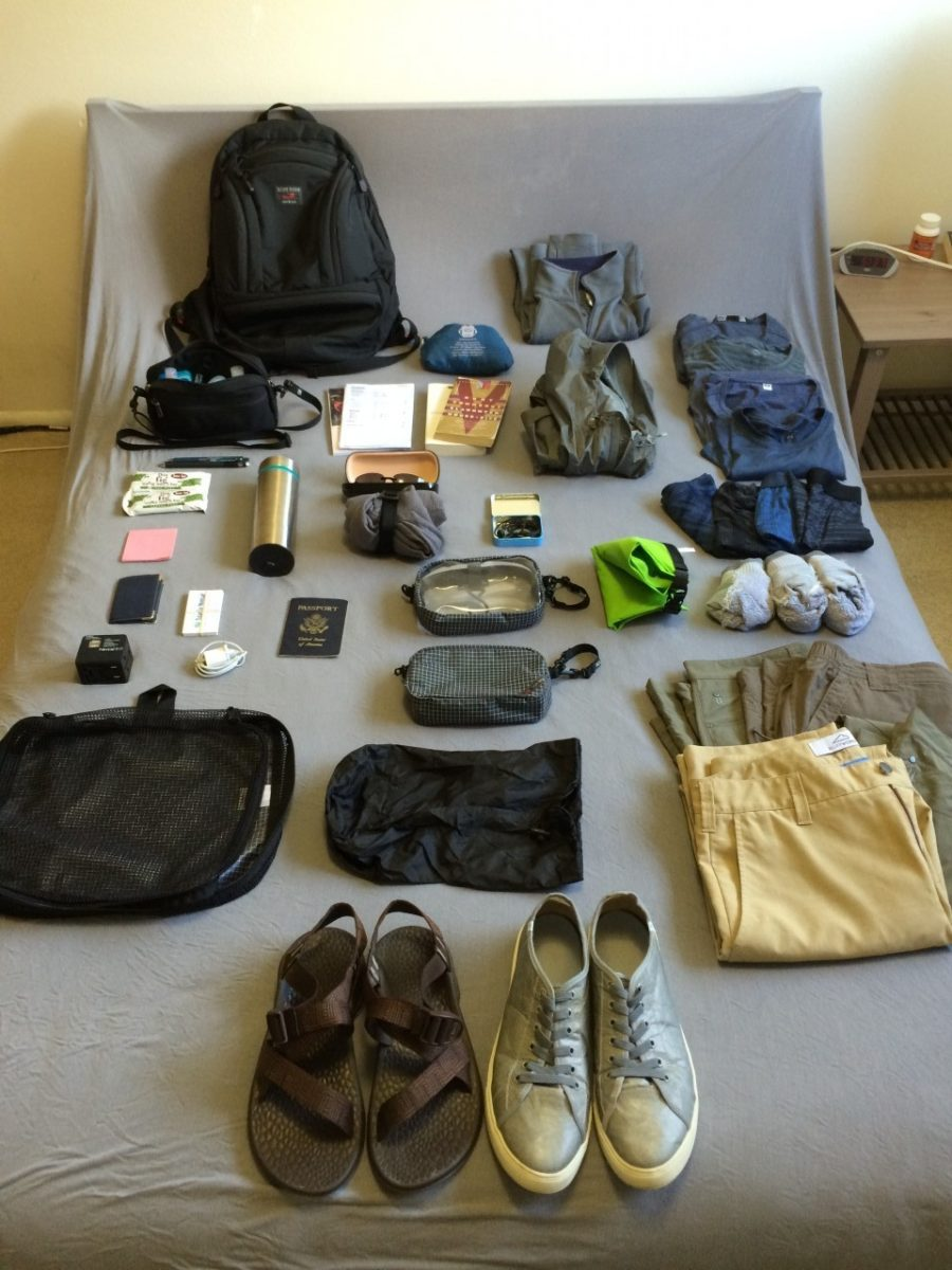 Backpacking through central america with just a carry on for Minimalist stuff