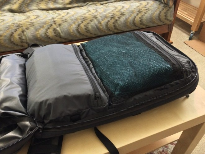 Minaal backpack organizer pockets packed