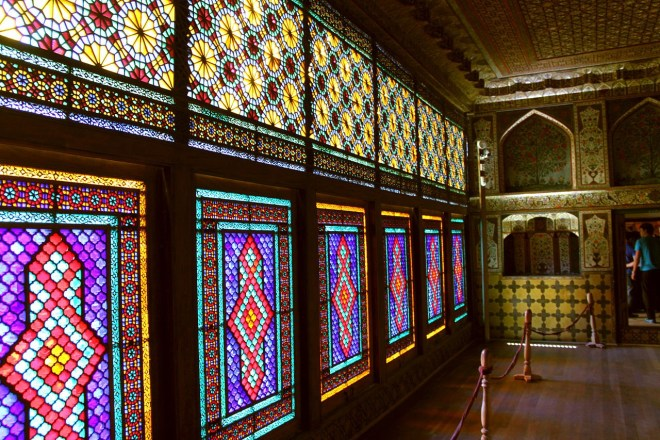 Sheki Khansaray Palace interior windows