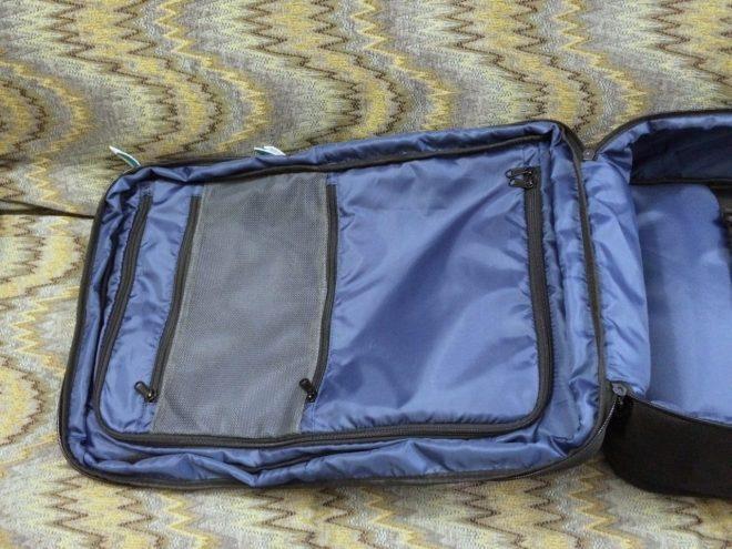 Standard Luggage door pockets