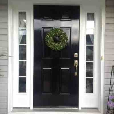 diy high gloss black front door 2