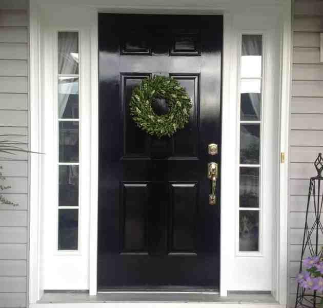diy high gloss black front door 2