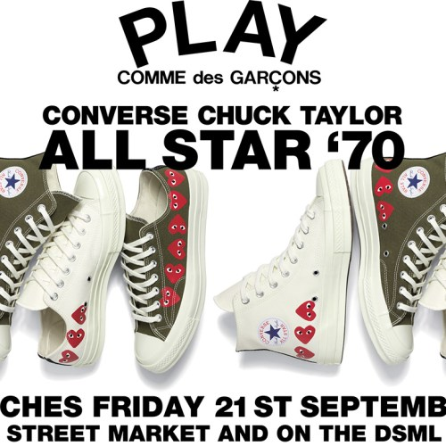 NEW PLAY CDG CONVERSE CTAS '70 LAUNCHES