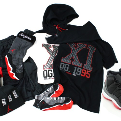 AIR JORDAN 11 COLLECTION BLACK/VARSITY RED