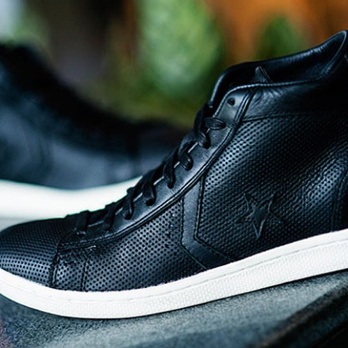 Converse by Varvatos 'Perforated Leather Hi-Top'