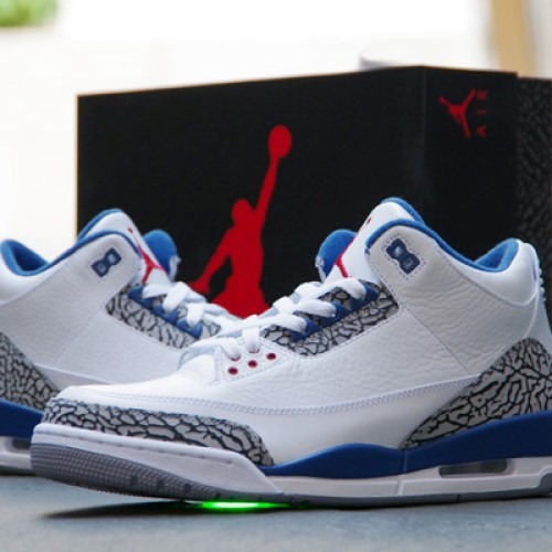 NIKE AIR JORDAN 3 RETRO WHITE/TRUE BLUE