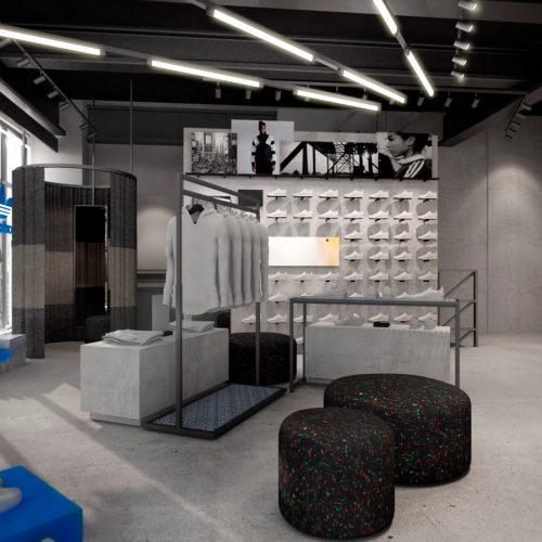 アディダスは、国内初となる新たなストアコンセプトを採用したアディダス専用フロアを「アトモス渋谷店」の2Fに展開