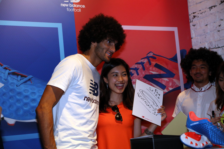 Photo15 - マンチェスター・ユナイテッド所属のマルアン・フェライーニ選手を招いた New Balance FOOTBALL 2015FW BOOTS REVEAL PARTY が開催