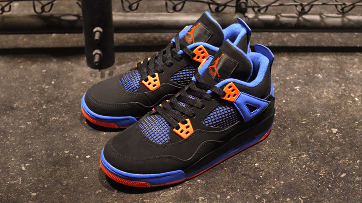 Photo02 - NIKE AIR JORDAN 4 RETRO BLACK/SAFETY ORANGE-GAME ROYAL