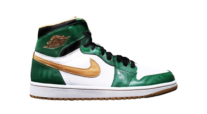NIKE AIR JORDAN 1 RETRO HIGH OG CLOVER/METALLIC GOLD/WHITE/BLACK