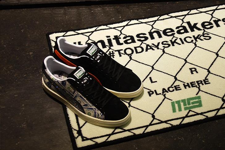 "Photo07 - プーマは、オリジナルのドル札紙幣をプリントしたmita sneakersとのコラボレーションモデルCLYDE ""mita sneakers""を発売"