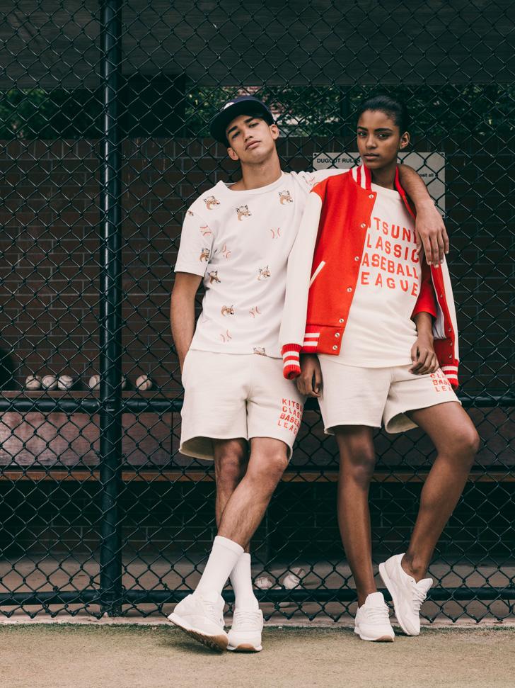 Photo02 - リーボッククラシックとメゾンキツネがベースボールをテーマにしたカプセルコレクションを発表