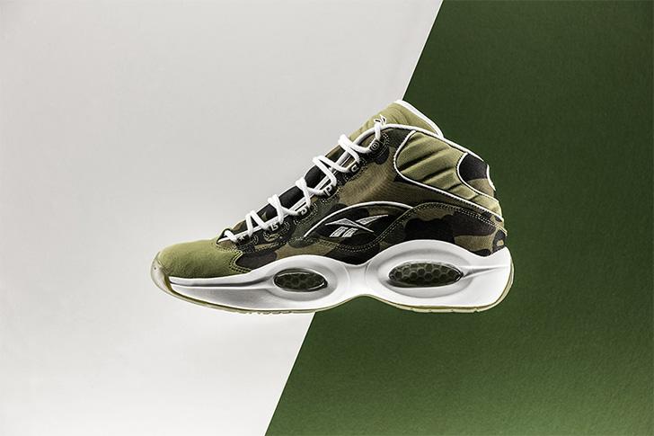 "Photo01 - リーボックから、BAPE®とmita sneakersによるコラボレーションモデルQUESTION MID ""A BATHING APE® x mita sneakers""が発売"