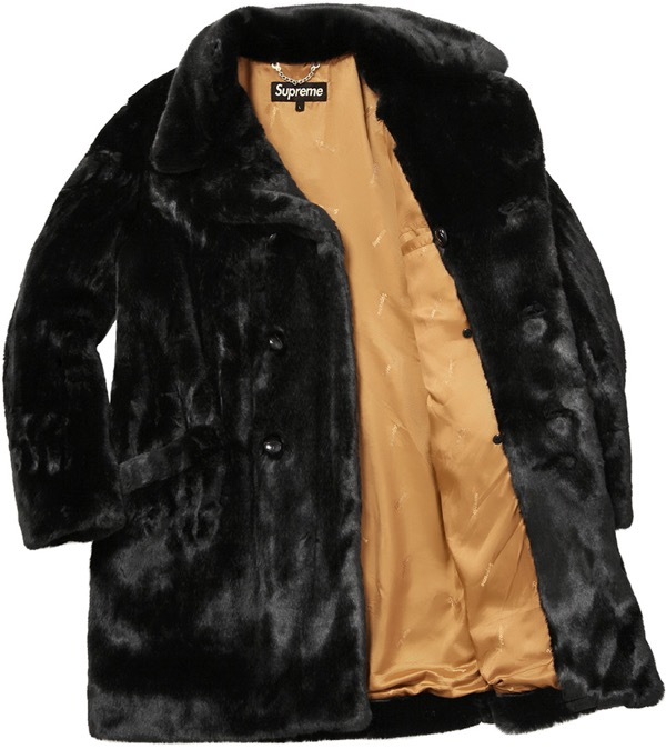 Faux Fur Double-Breasted Coat