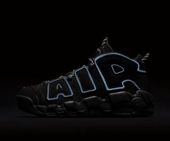海外12月3日発売予定 NIKE AIR MORE UPTEMPO BLACK REFLECTIVE