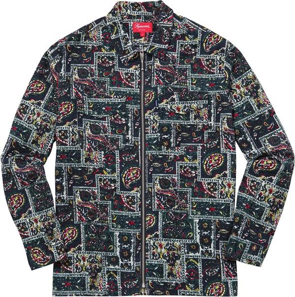 Broken Paisley Flannel Zip Up Shirt