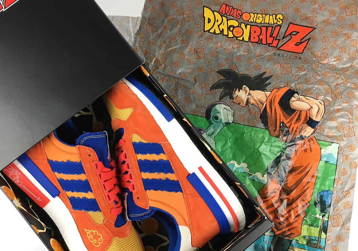 Dragon Ball Z adidas Goku ZX 500 RM   Unboxing Video   SneakerNews com Unboxing The Dragon Ball Z x adidas ZX 500 RM    Goku