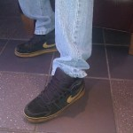 Nike black and tan classic mid tops in Malibu Starbucks