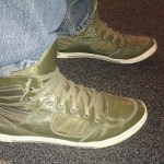 Score with H&M! WHAT with these Green midtops