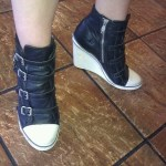Sick Ash black hightops - yes the rare female sneak at Whole Foods