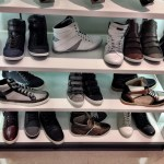 Props to Aldo's sneaker shelf at the Beverly Center in Los Angeles