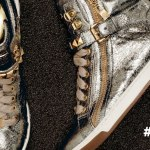 Wanna See | Michael Kors Flashy Gold High Tops - Metallic Glam Studded