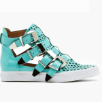 Wanna see | Nasty Gal Indie Hi Buckled Sky Blue Mid Tops