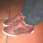 Nike Air Royal burgundy mid tops in Santa Monica