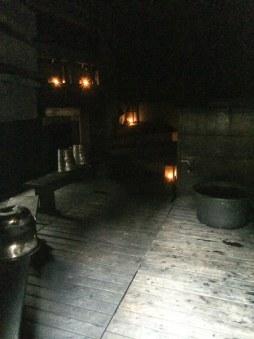 Im Inneren der Smoke Sauna