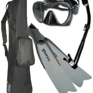 Mares Snorkel Set Review with Long Blades, Dry Snorkel, Mask and Long Fin Bag