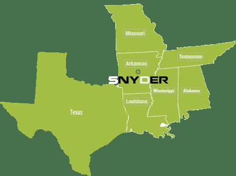 Now Serving Dallas TX Snyder Environmental - Dallas on us map
