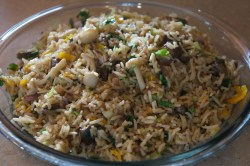 Small Of Mushroom Fried Rice
